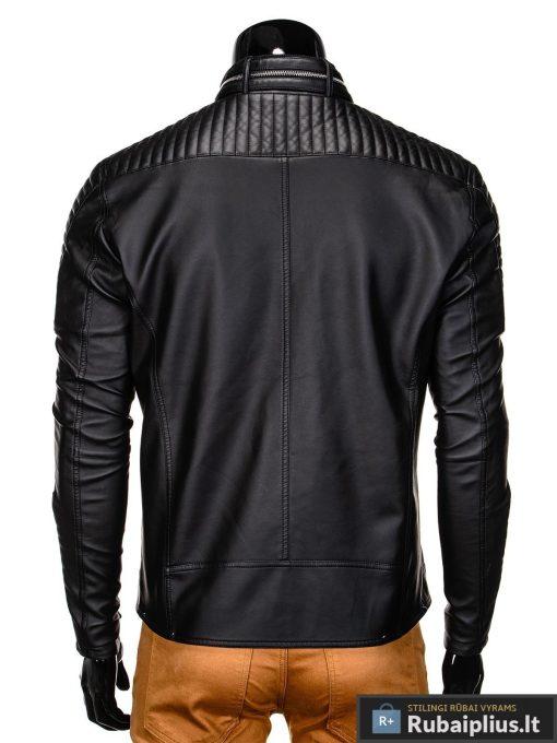 Vyriska pavasarine juoda striukė vyrams dirbtinės odos internetu pigiau C325J nugara