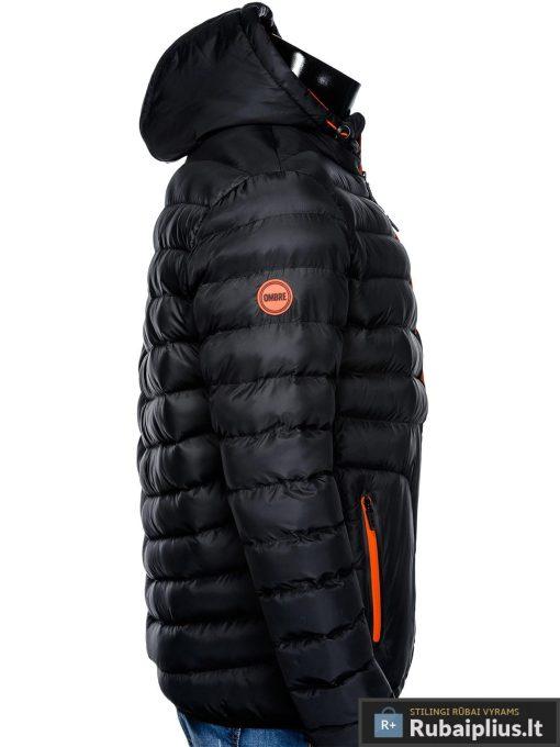 Vyriska rudenine juoda striukė vyrams pavasariui C356J šonas