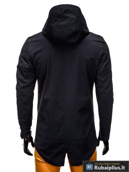 Vyriska pavasarine juoda striukė vyrams prailginta gale internetu pigiau C310J nugara
