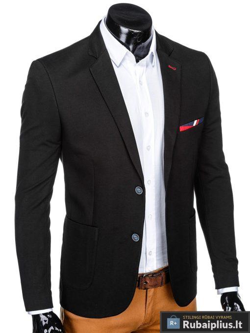 Stilingas juodas vyriškas švarkas bleizeris vyrams internetu pigiau M77J dešinė