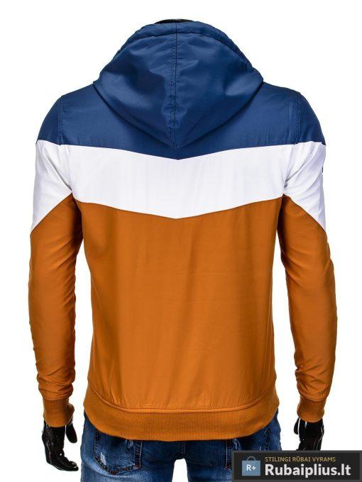 Vyriska pavasarine tamsiai mėlyna-oranžinė striukė vyrams internetu pigiau C316TMO nugara