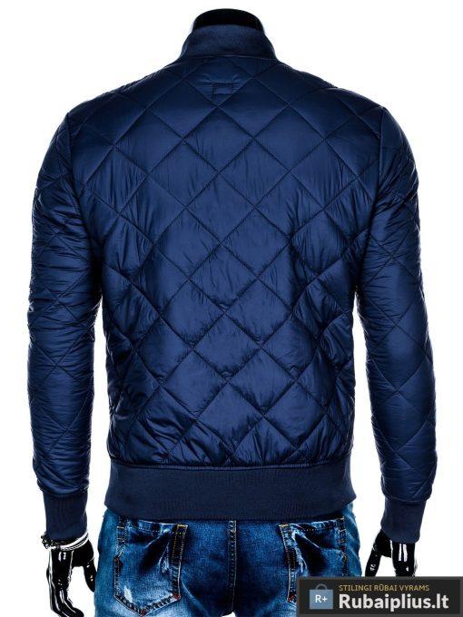 Stilinga mėlyna pavasarinė vyriška striukė vyrams internetu pigiau C357M nugara