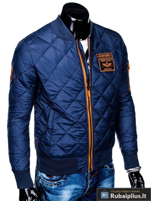 Stilinga mėlyna pavasarinė vyriška striukė vyrams internetu pigiau C357M dešinė