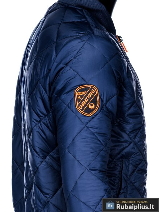 Stilinga mėlyna pavasarinė vyriška striukė vyrams internetu pigiau C357M šonas