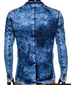 Stilingas šviesiai mėlynas džinsinis vyriškas švarkas bleizeris vyrams internetu pigiau M113SJEANS nugara