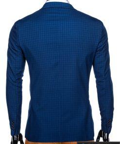 Stilingas mėlynas languotas vyriškas švarkas bleizeris vyrams internetu pigiau M85 nugara