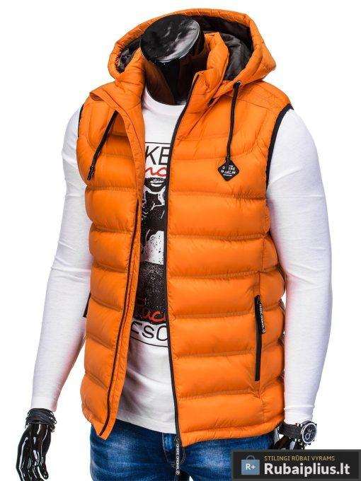 Madinga vyriska oranžinė dygsniuota liemenė vyrams internetu pigiau kairė