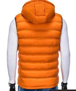 Madinga vyriska oranžinė dygsniuota liemenė vyrams internetu pigiau nugara