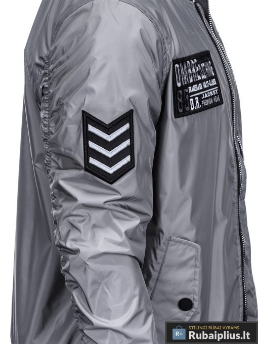 Vyriska pavasarine pilka striukė vyrams bomber internetu pigiau C350P šonas