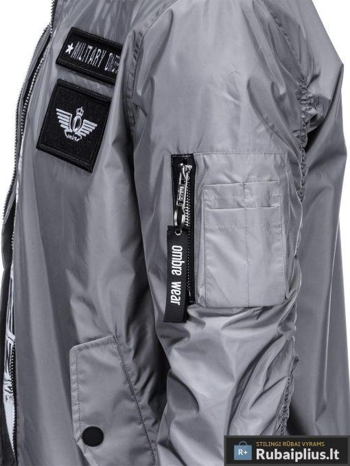 Vyriska pavasarine pilka striukė vyrams bomber internetu pigiau C350P kišenė