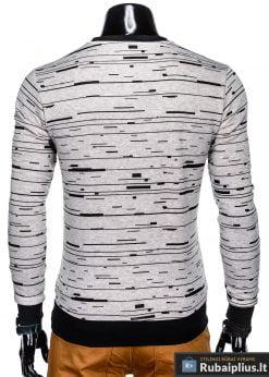 Stilingas pilkas vyriškas džemperis su užrašu vyrams internetu pigiau B953P nugara