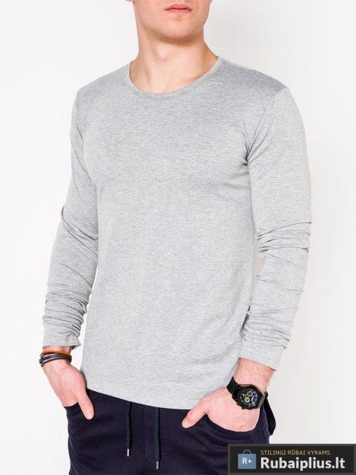 Pilki vyriški marškinėliai ilgomis rankovėmis vyrams internetu pigiau L114P priekis