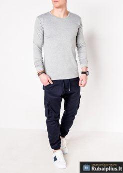 Pilki vyriški marškinėliai ilgomis rankovėmis vyrams internetu pigiau L114P žmogus