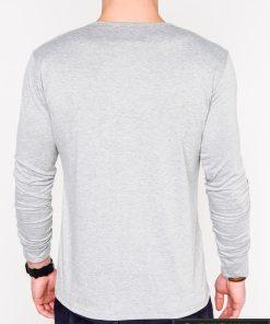 Pilki vyriški marškinėliai ilgomis rankovėmis vyrams internetu pigiau L114P nugara