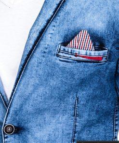 Džinsinis vyriškas švarkas bleizeris vyrams internetu pigiau M117SJEANS nosinaitė