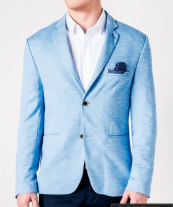 Stilingas šviesiai mėlynas vyriškas švarkas bleizeris vyrams internetu pigiau M88SM priekis