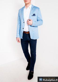 Stilingas šviesiai mėlynas vyriškas švarkas bleizeris vyrams internetu pigiau M88SM žmogus
