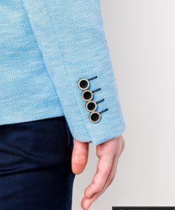 Stilingas šviesiai mėlynas vyriškas švarkas bleizeris vyrams internetu pigiau M88SM rankovė