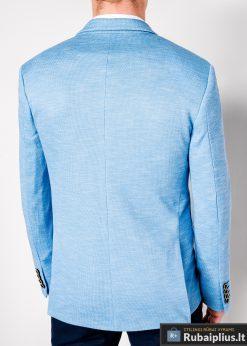 Stilingas šviesiai mėlynas vyriškas švarkas bleizeris vyrams internetu pigiau M88SM nugara