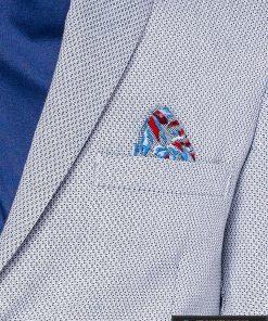 Šviesiai mėlynas vyriškas švarkas bleizeris vyrams internetu pigiau M118SM nosinaitė