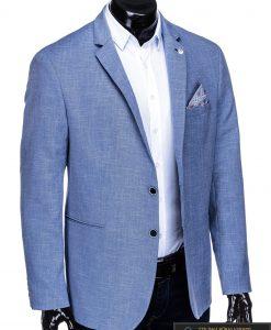 Dideliu dydžiu šviesiai mėlynas vyriškas švarkas vyrams internetu pigiau M126STM dešinė