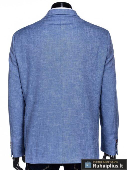 Dideliu dydžiu šviesiai mėlynas vyriškas švarkas vyrams internetu pigiau M126STM nugara