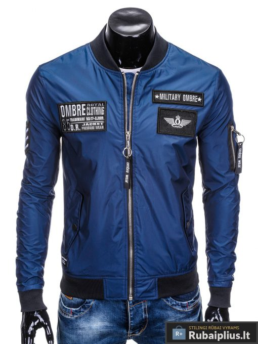 Vyriska pavasarine tamsiai mėlyna striukė vyrams bomber internetu pigiau C350TM priekis