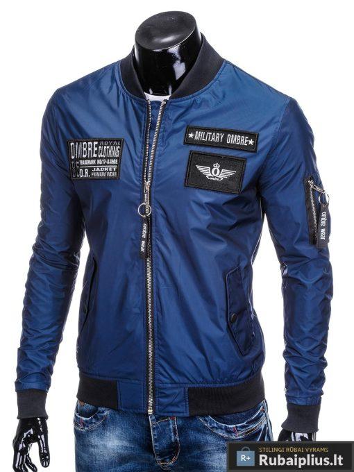 Vyriska pavasarine tamsiai mėlyna striukė vyrams bomber internetu pigiau C350TM kairė