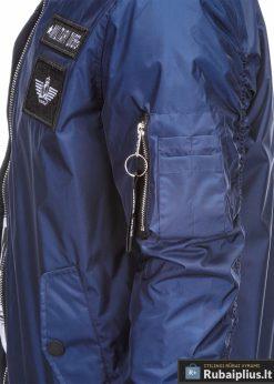 Vyriska pavasarine tamsiai mėlyna striukė vyrams bomber internetu pigiau C350TM kišenė