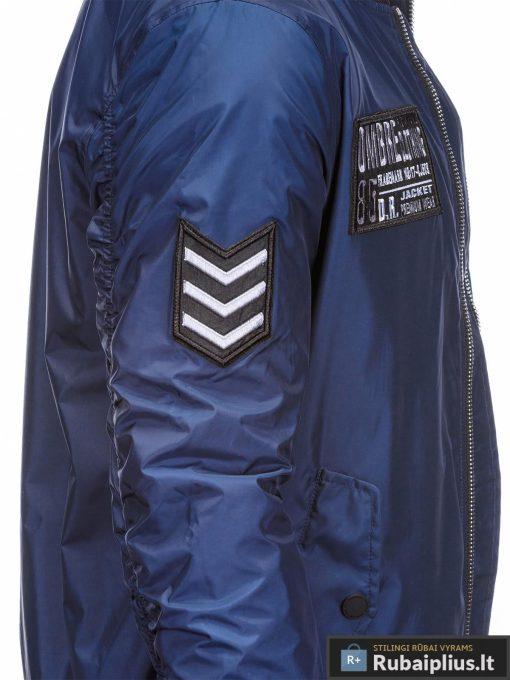 Vyriska pavasarine tamsiai mėlyna striukė vyrams bomber internetu pigiau C350TM šonas