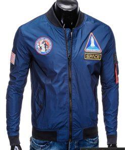 Vyriska pavasarine tamsiai mėlyna striukė vyrams bomber internetu pigiau C351TM dešinė