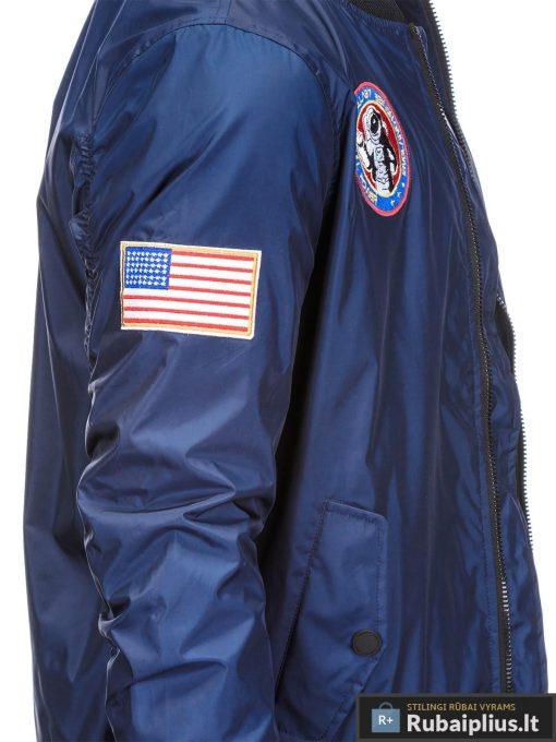 Vyriska pavasarine tamsiai mėlyna striukė vyrams bomber internetu pigiau C351TM šonas