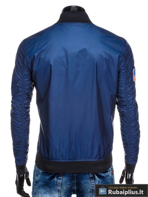 Vyriska pavasarine tamsiai mėlyna striukė vyrams bomber internetu pigiau C351TM nugara