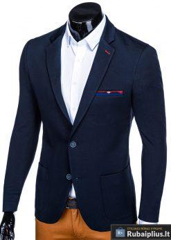 Stilingas tamsiai mėlynas vyriškas švarkas bleizeris vyrams internetu pigiau M76TM kairė