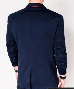 Stilingas tamsiai mėlynas vyriškas švarkas bleizeris vyrams internetu pigiau M73TM nugara