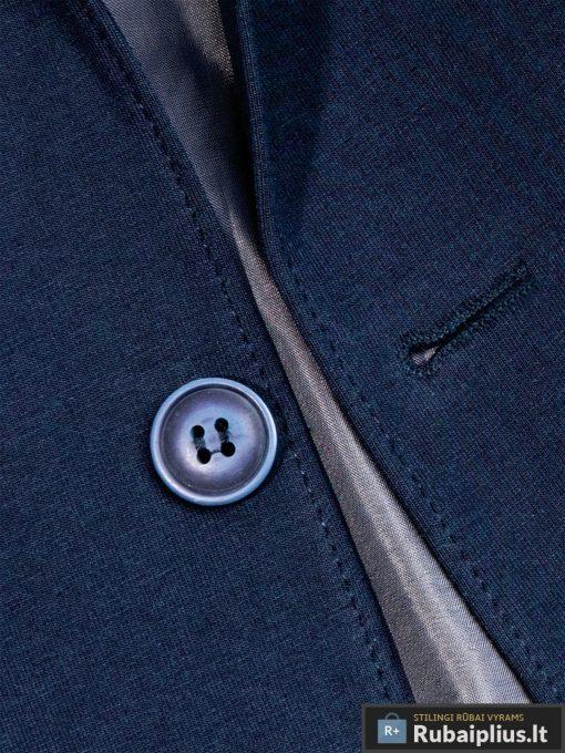 Stilingas tamsiai mėlynas vyriškas švarkas bleizeris vyrams internetu pigiau M73TM saga