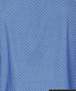 Tamsiai mėlyni taškuoti vyriški marškiniai ilgomis rankovėmis vyrams internetu pigiau K457TM audinys