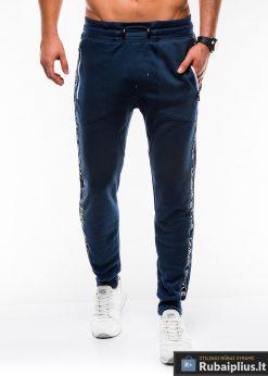 Vyriskos tamsiai mėlynos sportinės kelnės vyrams internetu pigiau P744TM priekis