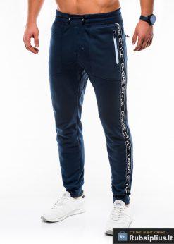 Vyriskos tamsiai mėlynos sportinės kelnės vyrams internetu pigiau P744TM kairė