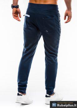 Vyriskos tamsiai mėlynos sportinės kelnės vyrams internetu pigiau P744TM nugara
