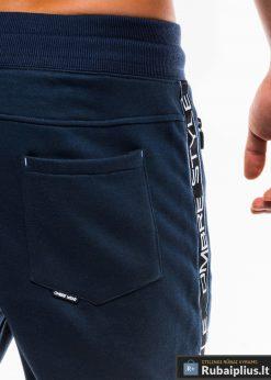 Vyriskos tamsiai mėlynos sportinės kelnės vyrams internetu pigiau P744TM kišenė