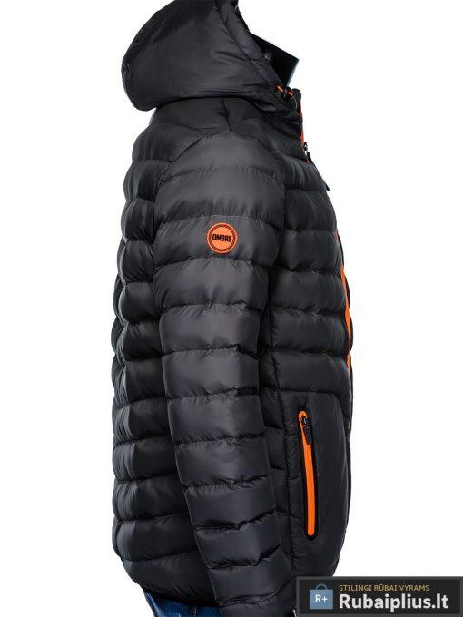 Vyriska rudenine tamsiai pilka striukė vyrams pavasariui internetu pigiau C356TP šonas