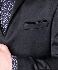 Tamsiai pilkas vyriškas švarkas bleizeris vyrams internetu pigiau M121TP apykaklė