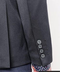 Tamsiai pilkas vyriškas švarkas bleizeris vyrams internetu pigiau M121TP rankovė
