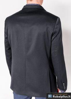 Tamsiai pilkas vyriškas švarkas bleizeris vyrams internetu pigiau M121TP nugara