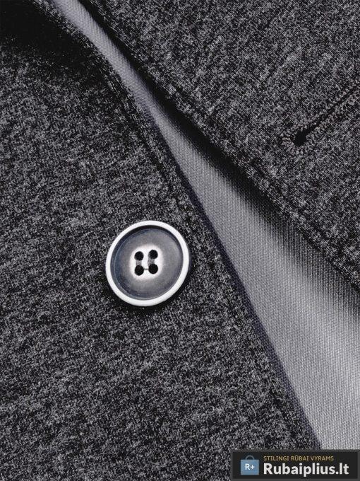 Stilingas tamsiai pilkas vyriškas švarkas bleizeris vyrams internetu pigiau M73TP saga