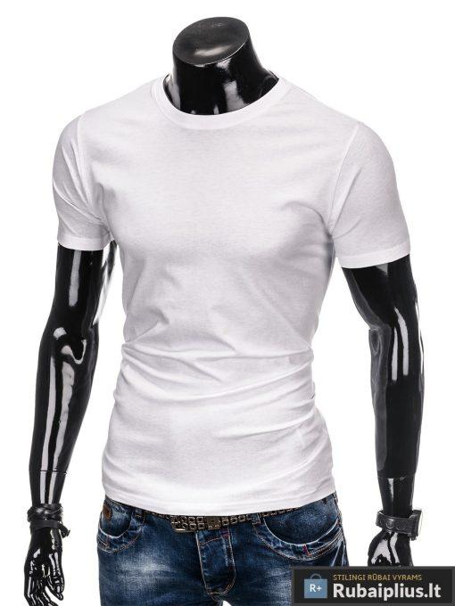 Vyriski vienspalviai balti marškinėliai vyrams internetu pigiau S884B kairė