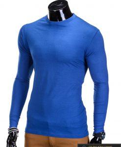 Vienspalviai mėlyni vyriški marškinėliai ilgomis rankovėmis vyrams internetu pigiau L59M kairė