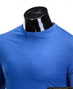 Vienspalviai mėlyni vyriški marškinėliai ilgomis rankovėmis vyrams internetu pigiau L59M apykaklė