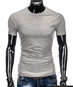 Vyriski vienspalviai pilki marškinėliai vyrams internetu pigiau S884P priekis